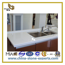 Construction Materials White Artificial Quartz Stone for Wall (YQC)