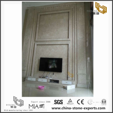 Hot Selling White Marble for TV Background (YQW-MB0726011)
