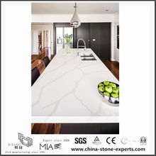 New Design White Calacatta Quartz Kitchen Countertops(YQW-QC0629008)
