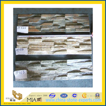 Natural Rusty Slate Veneer Culture Stack Stone for Wall Cladding (YQA-S1038)