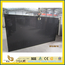 Crystal Black Artificial Quartz Stone Slab for Kitchen/Bathroom/School Wall Tiles