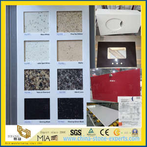 Pure White/Grey/Crystal Engineered Stone Quartz, Artificial Quartz for Countertop (yys)