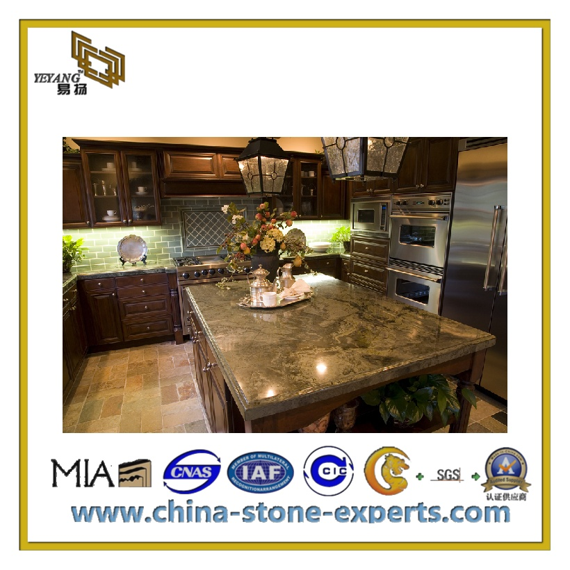 Natural Polished Granite Marble Slab for Countertop & Vanity Top(YQC)