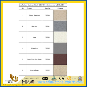 Fine-Grain Artificial/Manmade Quartz Stone Tile for Floor/Wall Tile, Kitchen Top