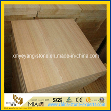 Natural Yellow Wooden Vein Sandstone for Walling & Flooring