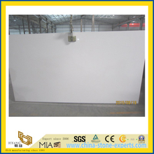 Pure White Quartz Stone Slab for Indoor Decoration