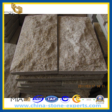 Yellow Granite Mushroom Stone for Wall Cladding (G682, G603) (YQZ-PS)