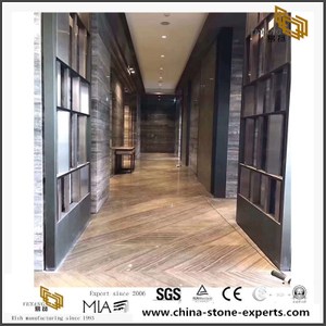 China Brown Cipollino Wooden Marble For Stairs Tiles