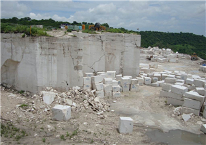 Roman ravertine quarry