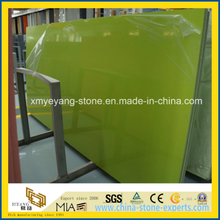 Apple Green Artificial Quartz Stone Slab for Kitchen Countertop