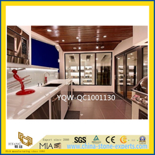 White Artificial Stone Engineered Quartz Countertop for Kitchen/Hotel