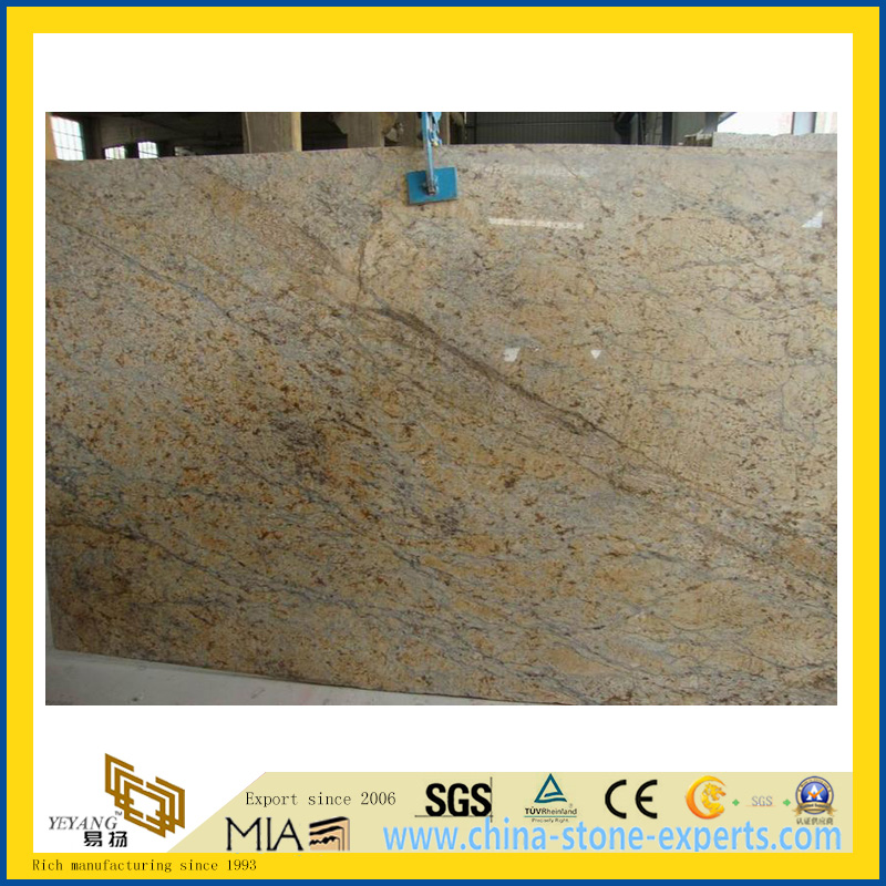 Polished Golden Flower Marble Slabs for Countertop/Vanity Top