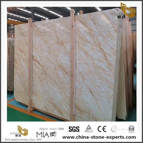 New Spider Gold Marble Polished Marble Slab Sale