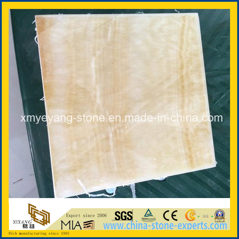 Translucent Honey Onyx Glass Composite Tile for Interior Walling