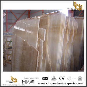 Rosin Jade Onyx Beige Color Luxury Onyx Slabs For Project