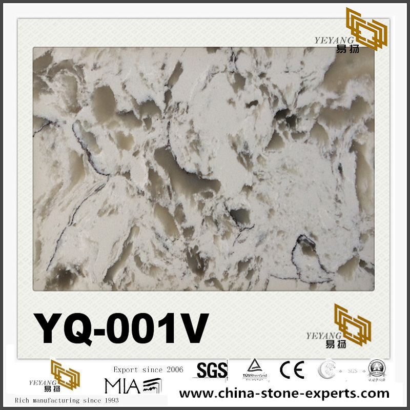 Luxury Quartz YQ-001V Luxury Series Colorful Quartz Slabs