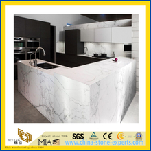 Natural Stone Polished Castro White Marble Countertop for Kitchen/Bathroom (YQC)