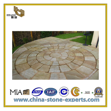 Natural Yellow Stripe Sandstone for Wall/Floor/Outside Paving(YQC)