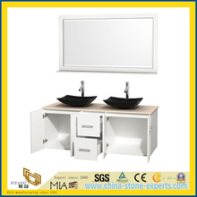 CE Prefabricate Quartz Solid Surface Bathroom Vanity Top with Sinks(YQW-QV10002)