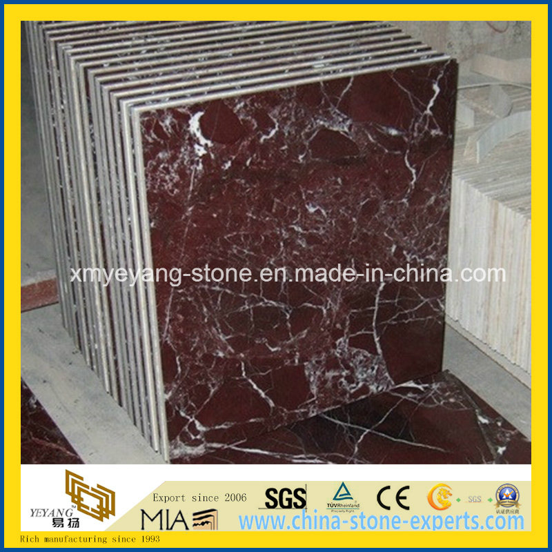 Rosso Lepanto Marble Tile for Floor or Wall