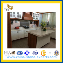 Hot Sale Beige White Artificial Quartz Countertops(YQW-GC1024)