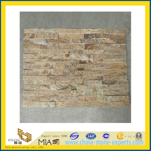 Wholesale Prices Yellow Slate Cultured Stone with Split (YQA-S1074)