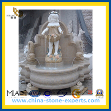 Stone Marble Fountain with Statue for Garden, Hotel(YQG-CS1040)