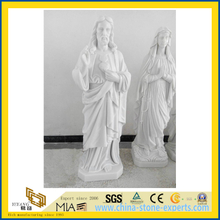 Hand Carved Virgin Mary Sculpture and Jesus Statue(YQG-LS1032)