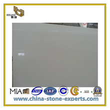 Natural Polished Decorative White Artificial Stone Quartz(YQC)