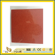 Pure Orange Artificial Stone Quartz for Tile, Slab, Countertop (YQC)