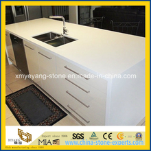 Super White Artificial Quartz (Caesarstone) Kitchen Countertop