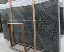 Antique Wood Black Marble Slab for Tiles / Countertop