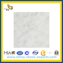 Polished Italy White Marble Floor, Bianco Carrara Marble Subway Tiles(YQC)