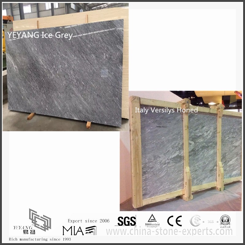 Beautiful Roman Ice Grey Marble for Kitchen Floor Tiles(YQW-MS0621001)