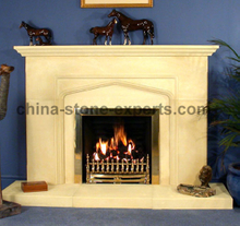 Indoor Decoration Natural Stone marble granite Fireplace (YQG-F1001)