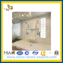 Polished Carrara Venato Stone Marble Tiles for Floor and Wall(YQC)