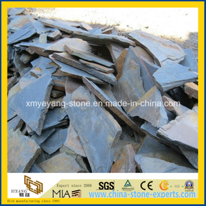 Irregular Rusty Slate Paving Tile for Outdoor Garden or Patio