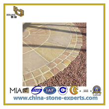 Natural Yellow Outside Wall/Flooring Decortion Sandstone Tiles(YQC)