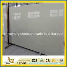 Beige Artificial Quartz Stone Slab for Cuntertop or Table Top