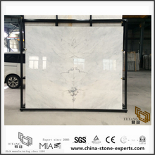 New Custom Engineered Laurance White Marble for Bathroom Tiles & Countertops Decoration (YQW-MS052501)