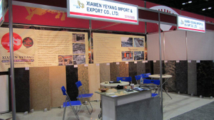 Stone Fair:Xiamen Yeyang Stone Factory Booth in Covering 2012