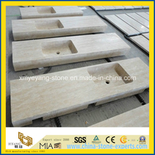 Beige Travertine Marble Countertop for Bathroom