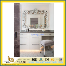 Beautiful Grey / Gray Quartz Vanity Top for Home & Hotel Bathroom