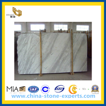 White Polished Volakas Marble Tile for Building Material(YQC)