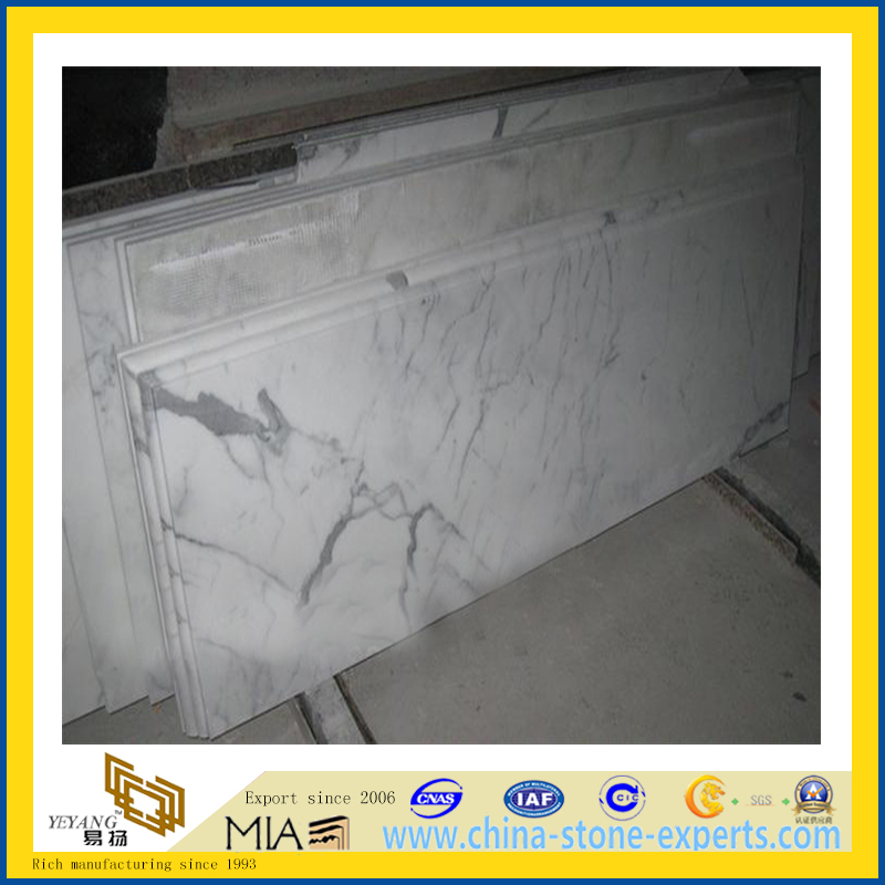 Italian marble carrara white countertop (YQA-MC1008)