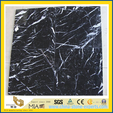 Black Neor Maqurina Marble Tile for Flooring Decoration