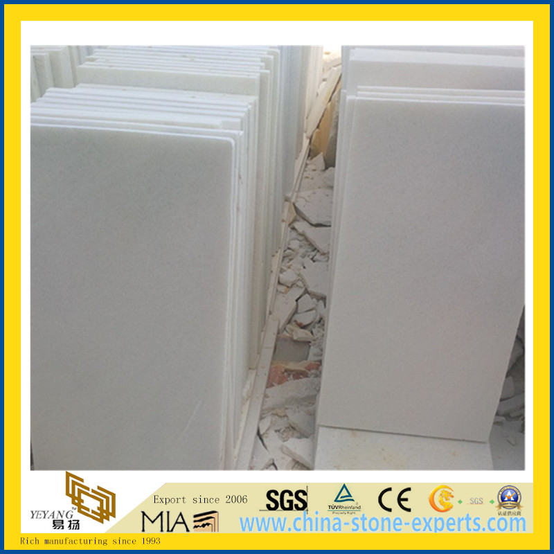 Polished Crystal White Marble Flooring Wall Tiles