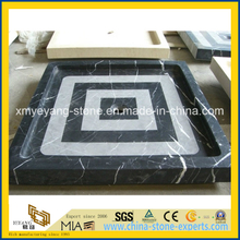 Black Marquina / Nero Marquina Marble Shower Tray for Hotel Bathroom