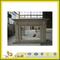 Creamy Stone Limestone Fireplace Mantel with Antique & Europe & New Style(YQC)