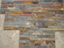 Rusty Slate Crazy Flagstone Paving and Wall